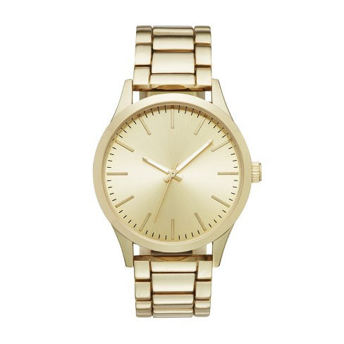 fa93dd63b Men's Classic Bracelet Watch - Goodfellow & Co™ Gold : Target