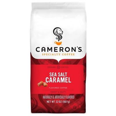 Cameron's Coffee Sea Salt Caramel Light Roast Ground Coffee - 32oz