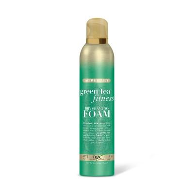 Dry Shampoo: OGX Green Tea Fitness Foam