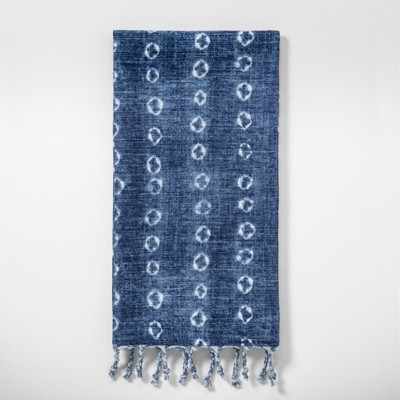 Shibori Print Kitchen Towel Blue - Threshold™