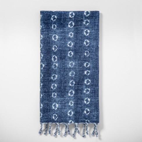 Shibori Print Kitchen Towel Blue - Threshold™ - image 1 of 1