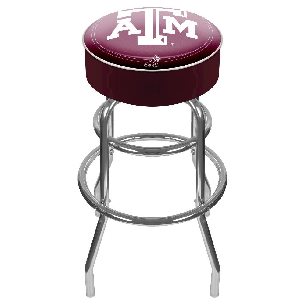 NCAA Texas A&m Aggies Padded Swivel Bar Stool with Back