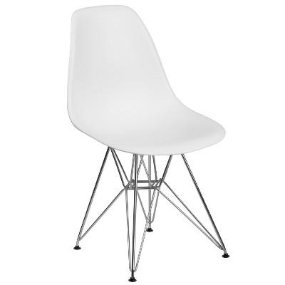Flash Furniture Elon Series Plastic Chair with Chrome Base