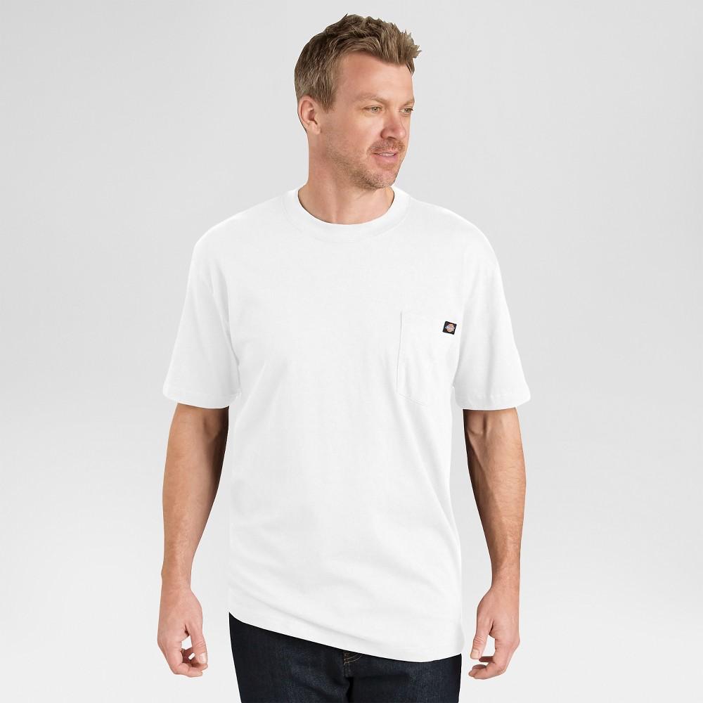 Dickies Men's Big & Tall 2 Pack Cotton Short Sleeve Pocket T-Shirt- White 4XL