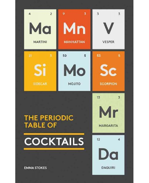 Periodic Table of Cocktails -  (The Periodic Table) by Emma Stokes (Hardcover) - image 1 of 1