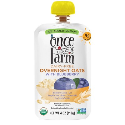 Once Upon a Farm Organic Dairy-Free Overnight Oats with Blueberry - 4oz