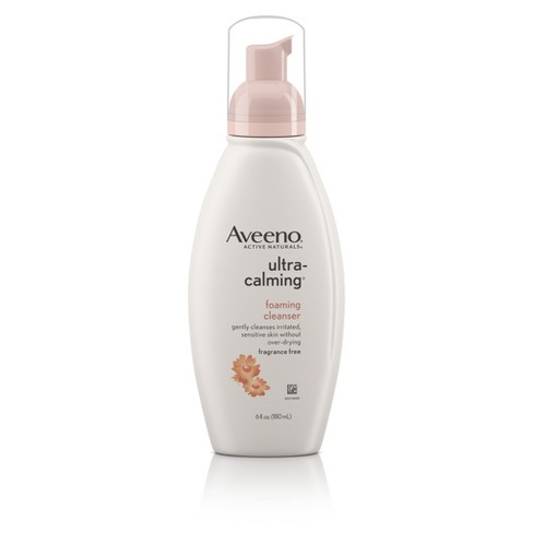 Unscented Aveeno Ultra-Calming Foaming Cleanser For Sensitive Skin - 6 fl oz - image 1 of 8