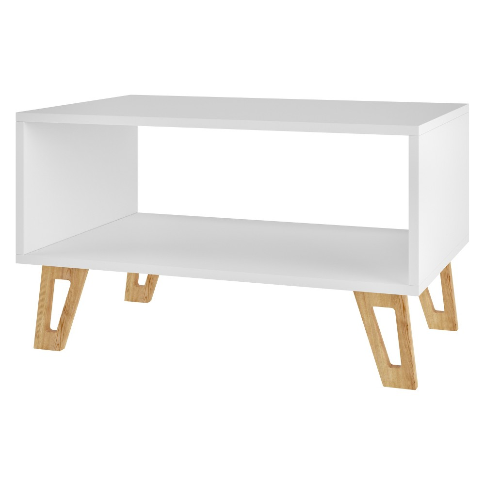 "Image of ""26.57"""" Doris Mid Century Coffee Table White - Manhattan Comfort"""