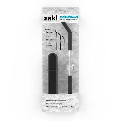 Zak! Designs Adjust-A-Straw with Case - Black