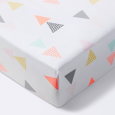 Fitted Crib Sheet Triangles - Cloud Island™ Pink
