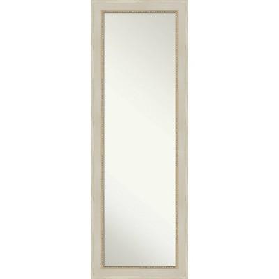 "18"" x 52"" Parthenon Wood Framed Full Length On the Door Mirror Cream - Amanti Art"