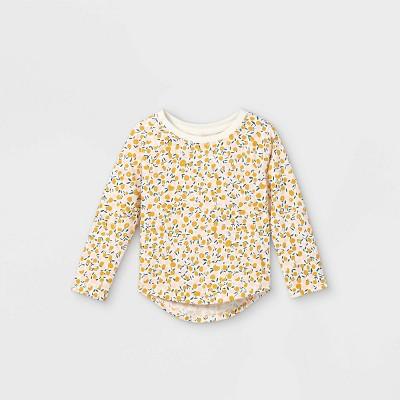 Toddler Girls' Floral Long Sleeve T-Shirt - Cat & Jack™ Cream