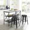 3pc Madeleine Island Dining Set with Amelia Stool Set Matte Black - Crosley - image 4 of 4