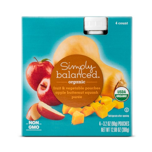 Apple Butternut Squash Pouch 4ct - Simply Balanced™ - image 1 of 1
