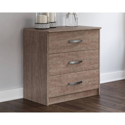Flannia 3 Drawer Chest Gray - Signature Design by Ashley
