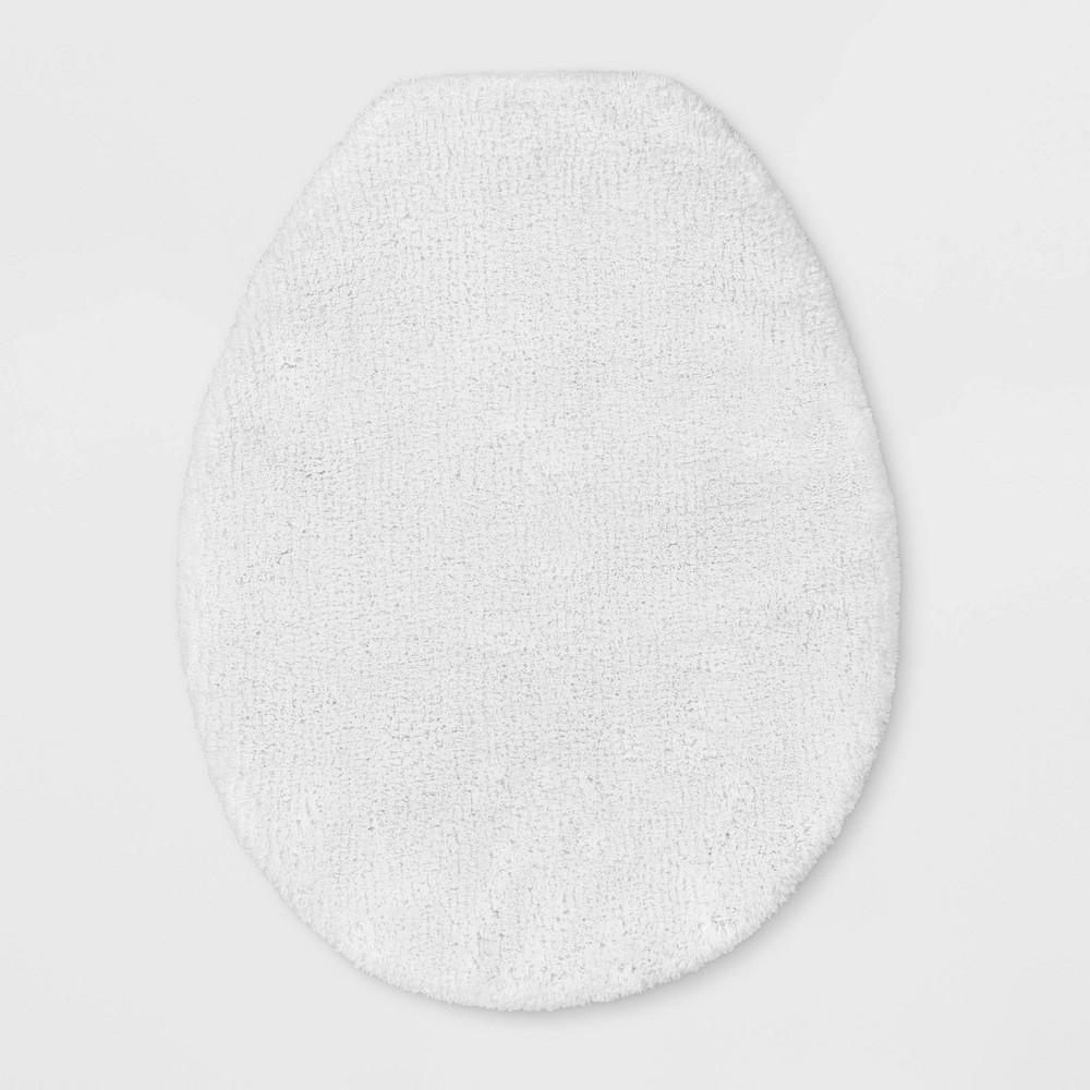 18 34 X21 34 Elongated Toilet Lid Cover White Threshold Signature 8482