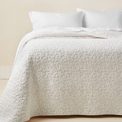 King Dove Stitch Quilt Off-White - Opalhouse™ designed with Jungalow™