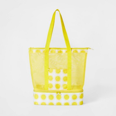 2 in 1 Cooler Tote Yellow - Sun Squad™