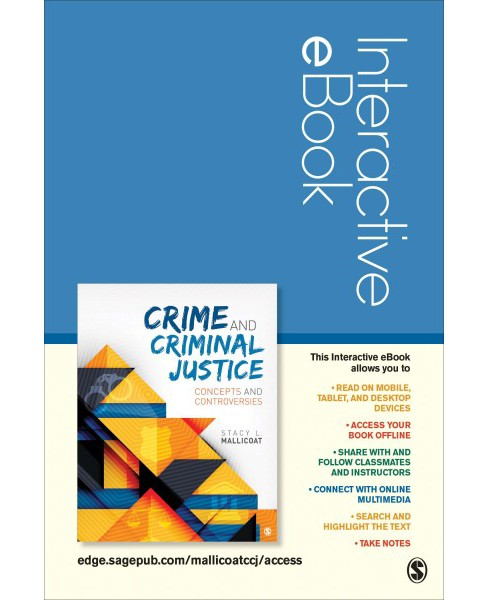 Crime and Criminal Justice Interactive Ebook Student Version : Concepts and Controversies (Hardcover) - image 1 of 1