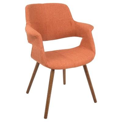 Vintage Flair Mid - Century Modern Dining/Accent Chair - Orange - Lumisource