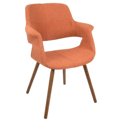 Vintage Flair Mid - Century Modern Dining/Accent Chair - Orange - Lumisource - image 1 of 4