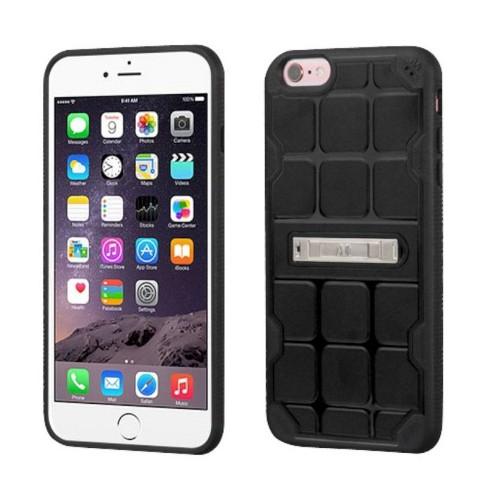 MYBAT For Apple iPhone 6 Plus/6s Plus Black Hard TPU Case w/stand - image 1 of 1