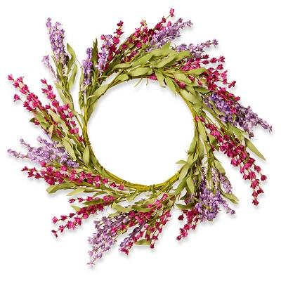 """Floral Wreath - Lavender (20"""")"""
