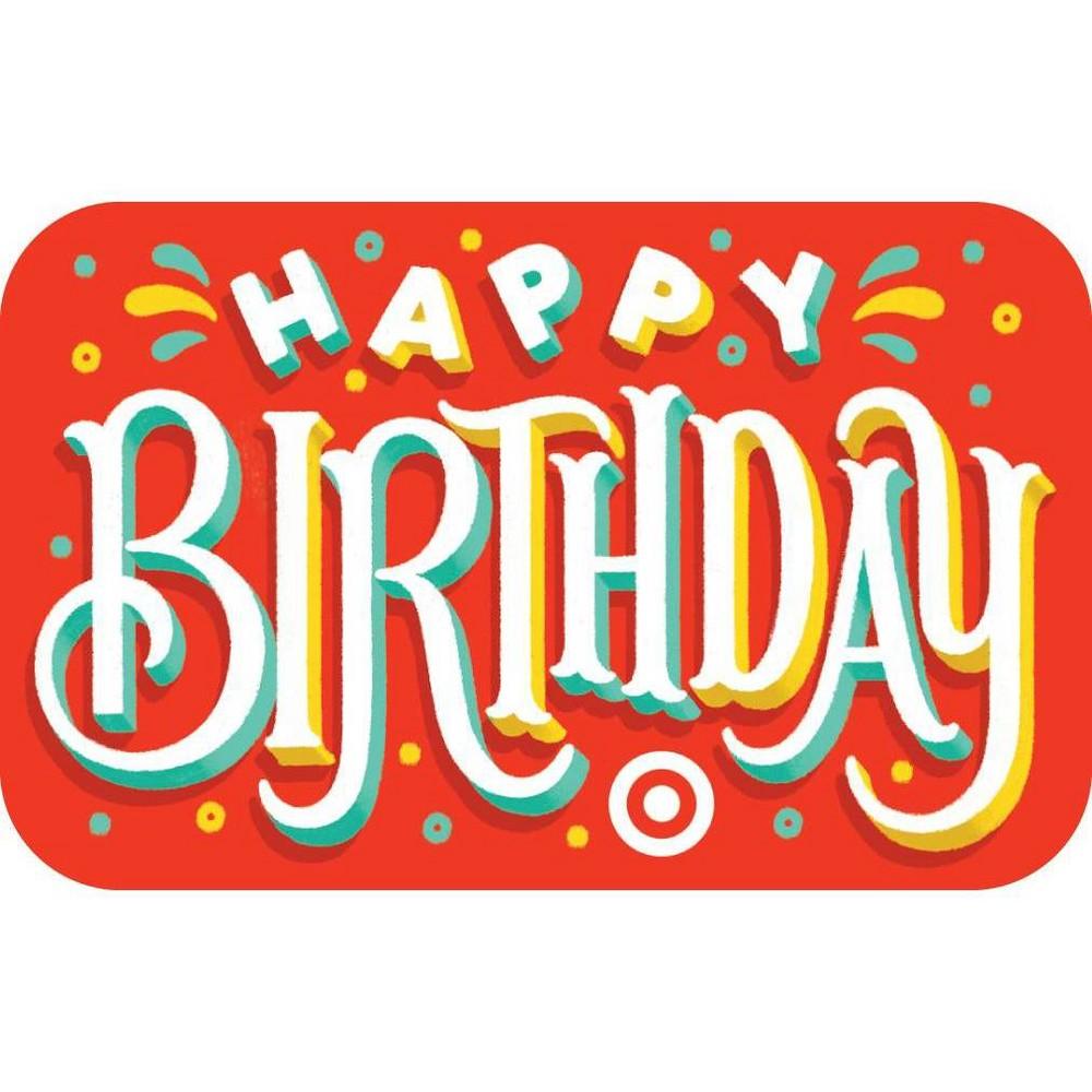 Birthday Type Target Giftcard 75