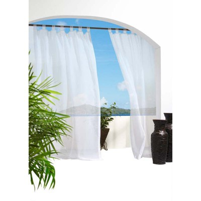 Outdoor Decor Escape treated Voile Hook & Loop Tab Top Panel