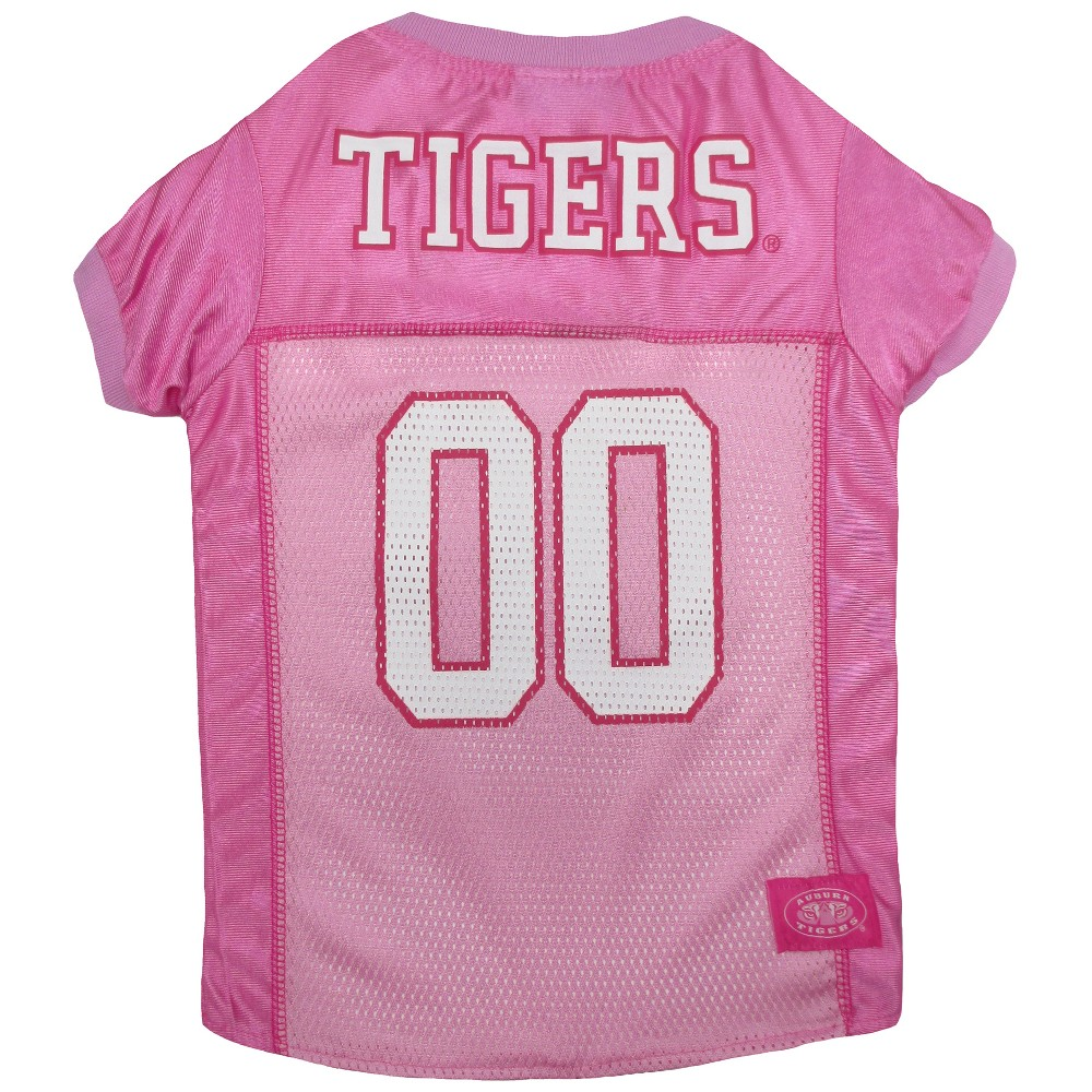 Pets First Auburn Tigers Pink Jersey - XS, Multicolored