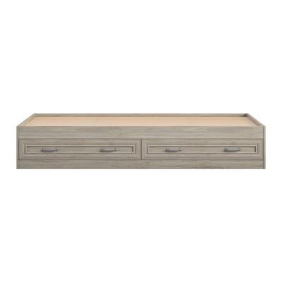 Sierra Ridge Levi Twin Bed with Storage, Light Walnut