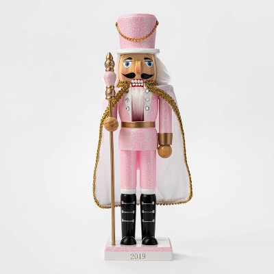 "14""-x-35""-traditional-nutcracker-with-cape-pink_white---wondershop by wondershop"