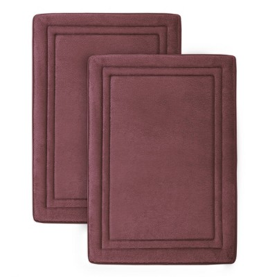 2pc Quick Drying Memory Foam Framed Bath Mat with GripTex Skid-Resistant Base - Microdry