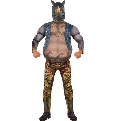 Teenage Mutant Ninja Turtles TMNT 2 Deluxe Rocksteady Adult Costume