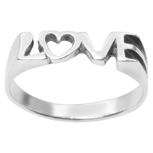 "Women's Journee Collection ""Love"" with Heart Ring in Sterling Silver - image 1 of 2"