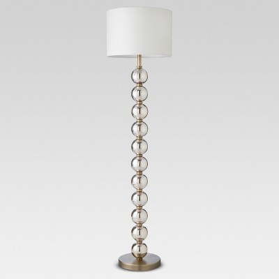 Mercury Glass Stacked Ball Floor Lamp Brass (Lamp Only)- Threshold™