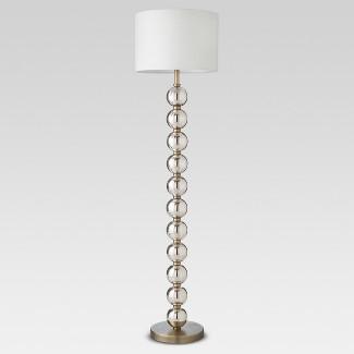 Mercury Glass Stacked Ball Floor Lamp Brass (Lamp Only) - Threshold™