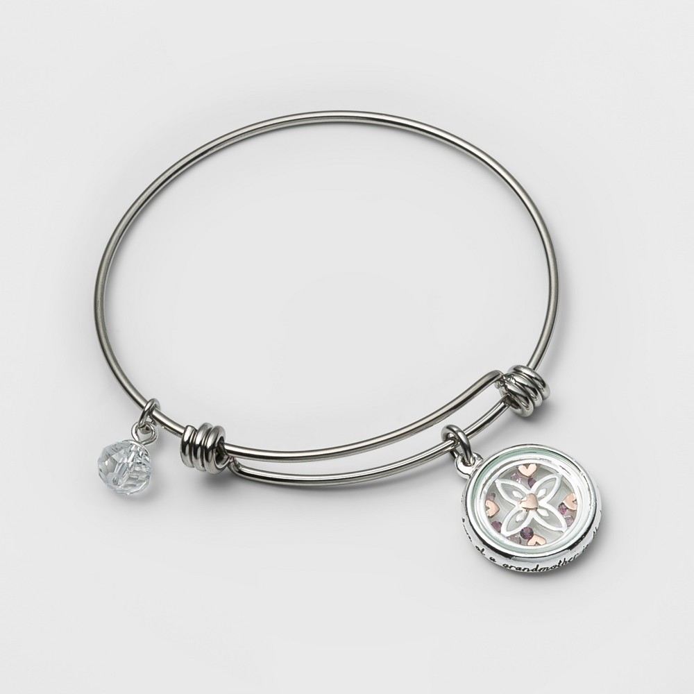 Stainless Steel Grandmother is the heath of the family Bangle Bracelet - Silver (8), Girl's