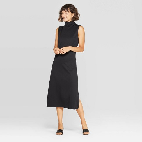Women's Sleeveless Turtleneck A Line Midi Dress - Who What Wear™ - image 1 of 3