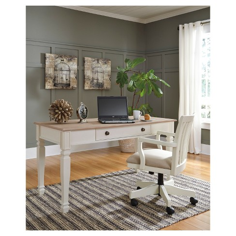 Sarvanny Home Office Desk Chair Cream Signature Design By Ashley