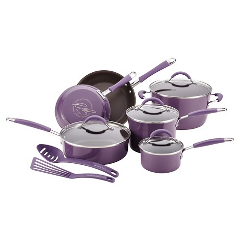 Rachael Ray 12 Piece Cookware Set - Purple - image 1 of 13