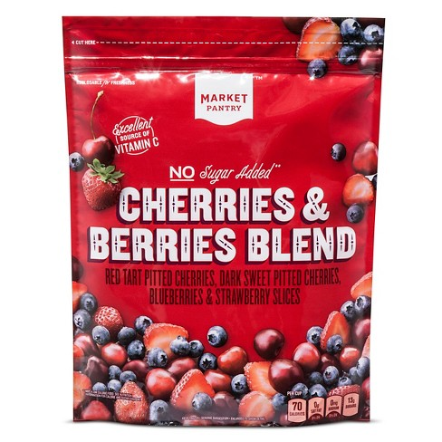 No Sugar Added Cherries and Berries Frozen Blend - 48oz - Market Pantry™ - image 1 of 1