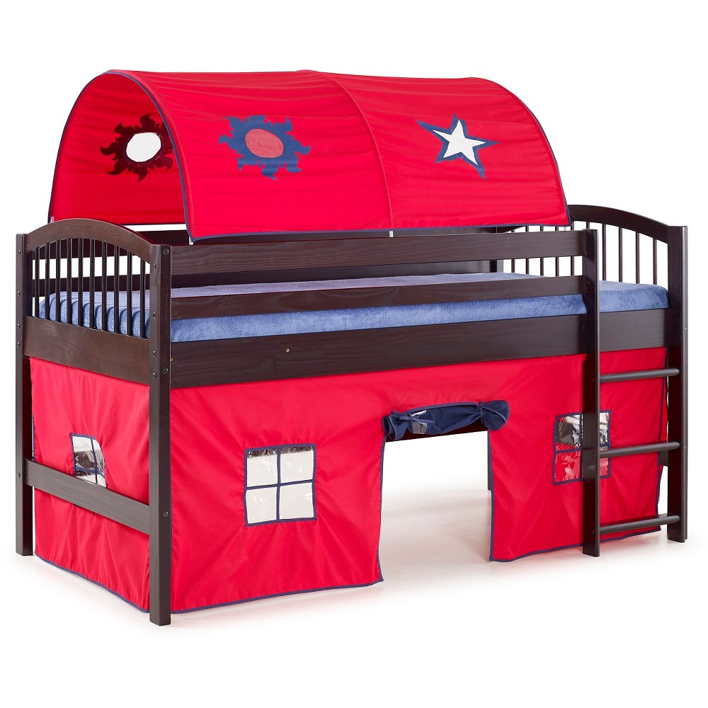 66 Junior Loft Bed Twin Hardwood Espresso Brown - Alaterre Furniture