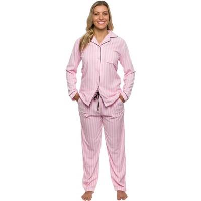 Silver Lilly Women's Fleece Striped Pajama Set