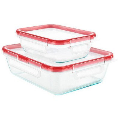 Pyrex 4pc Glass Freshlock Set