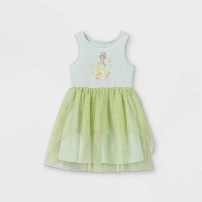 Toddler Girls' Disney Princess Tiana Sleeveless Knit Dress - Green