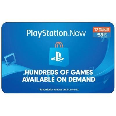 PlayStation Now 12 Month Membership (Digital)