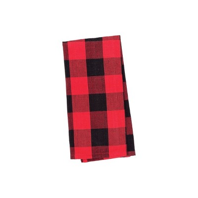 C&F Home Franklin Black and Red Plaid Woven Cotton Kitchen Towel