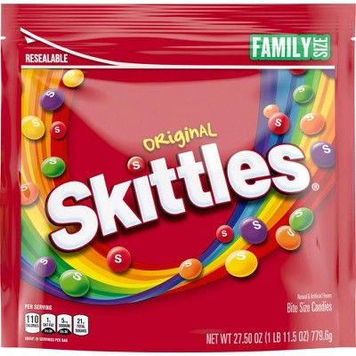 Skittles Original Family Size Chewy Candy - 27.5oz