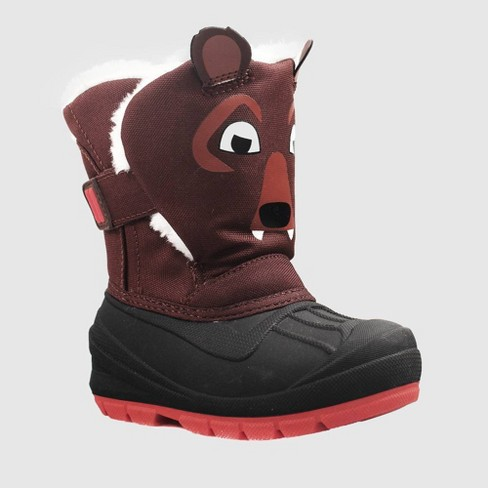 Toddler Boys' Huxley Bear Winter Boots - Cat & Jack™ Brown - image 1 of 4